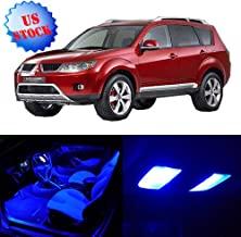 SCITOO LED Interior Lights 11pcs Blue Package Kit Accessories Replacement for 2007 2008 2009 2010 2011 2012 2013 2014 2015 2016 2017 Mitsubishi Outlander