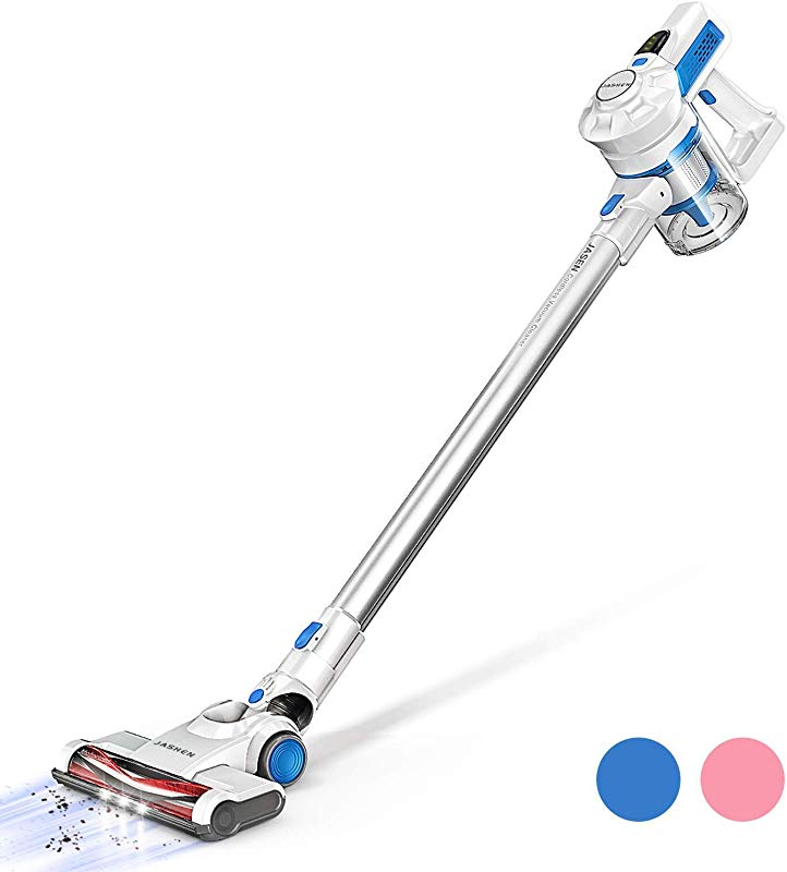 Cordless Vacuum JASHEN Powerful Stick Vacuum Cleaner 2 In 1 Lightweight Handheld Vacuum With Rechargeable Lithium Battery And LED Brush For Floor Carpet Pet Hair Car