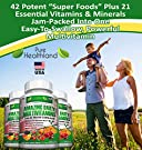 Amazing Liquid Filled Multivitamin Supplement Capsules for Men Women Seniors with 42 Fruits Vegetables Blend, 21 Essential Vitamins Minerals. Easy to Swallow. Made in USA #4
