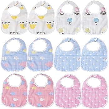 Babero para bebés de 3 piezas, impermeable, lavable, fabricado con ...