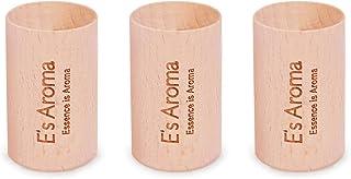 E's Aroma 欅アロマディッシュ 木 アロマウッド ケヤキ 木製 置き型消臭 玄関 デスク トイレなど 3個入り
