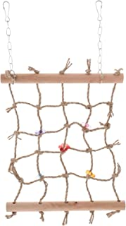 POPETPOP Bird Rope Net Straw Parrot Hammock Ladder Bird Foraging Wall Toy Parrot Swing Toy Perch Chew Toys for Parrot Para...