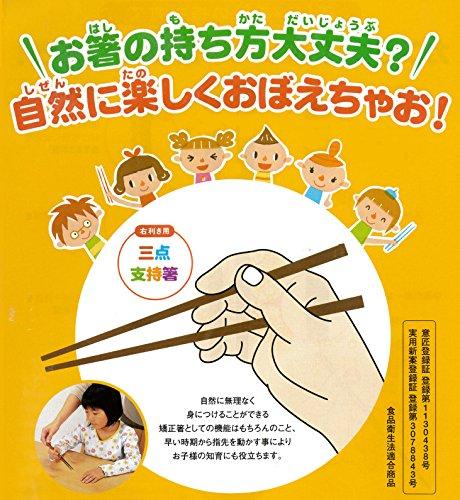 『イシダ 子供用矯正箸 三点支持箸 右利き用 14cm』の3枚目の画像