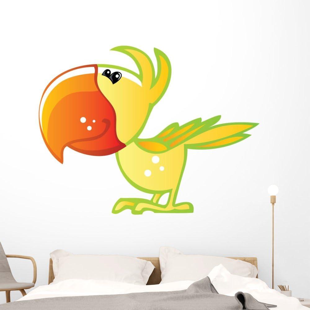 Wallmonkeys WM160646 Cute Baby Yellow Max 40% OFF Green Cartoon and Max 84% OFF P Parrot