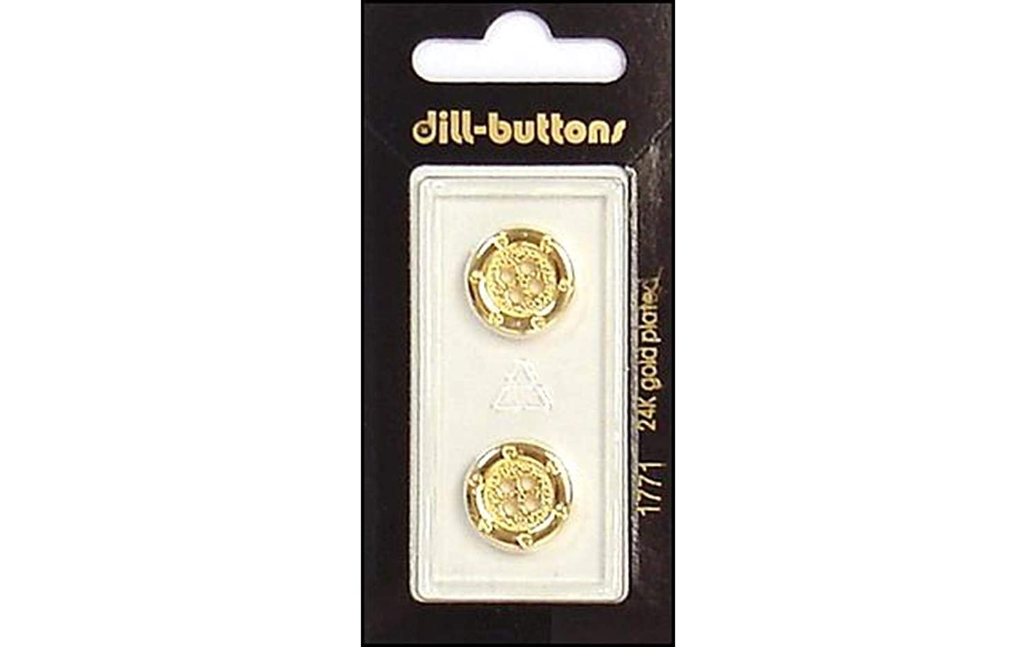 Dill Buttons 15mm 2pc Gold 4 Hole Challenge the lowest price of Japan Austin Mall ☆