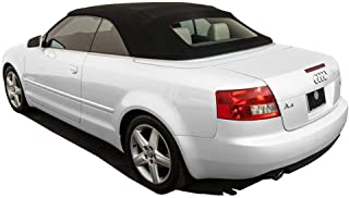 AutoBerry Compatible with Audi A4 2003-2009 Convertible Top with Glass Window Made from Haartz Stayfast, Black
