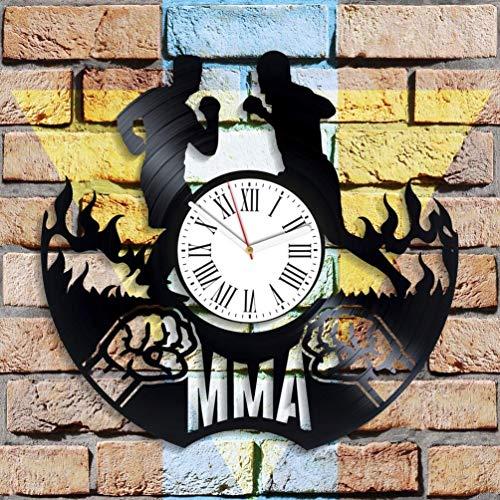 Reloj de pared deportivo campeones reloj de pared decoración única para gimnasio minimalista reloj de vinilo para él ella para niños él