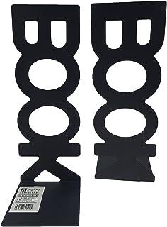 Winterworm Serre-livres verticaux en métal solide antidérapant pour la maison, le bureau, l'étude et les étagères (Noir)