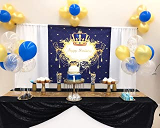 ShinyBeauty 50x50Inch Square Black Sequin Tablecloth,50x50Inch Tablecloth Perfert for Birthday,for Party,for Wedding