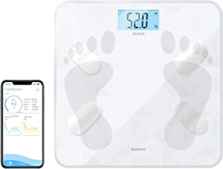 SUNAVO Bluetooth Body Fat Scale BMI Scale Health Monitor for Body Weight Fat Water BMR and More