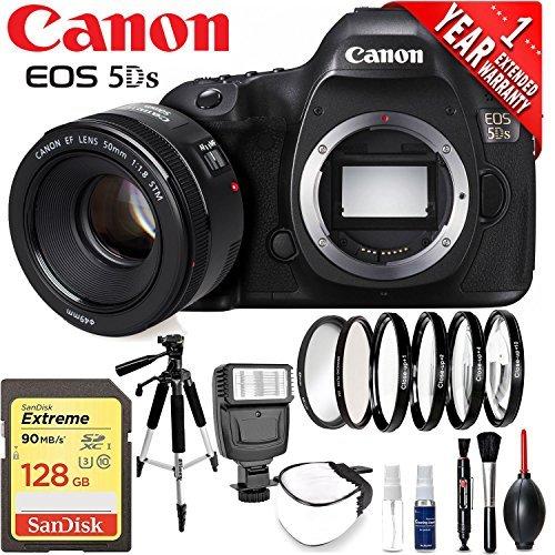 Canon eos 5ds dslr camera international version 50 megapixel hd video battery neck strap starter accessory bundle
