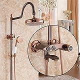 lvsede rubinetto bagno lavabo rubinetto bagno lavabo ottone soffione doccia a pioggia a pioggia calda e fredda intelligente a parete in rame color oro rosa