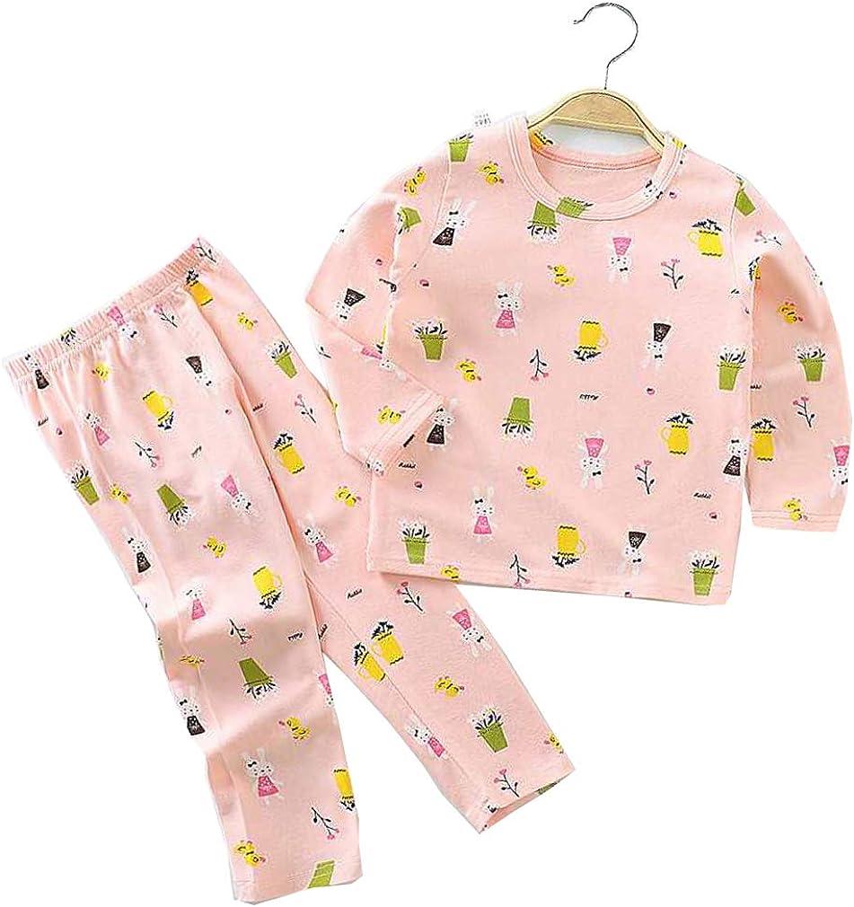 Cute Kids Toddler Baby Girl Boy Pajamas Set Long Sleeve Pullover Top+Long Pants Sleepwear Fall Winter Outfits