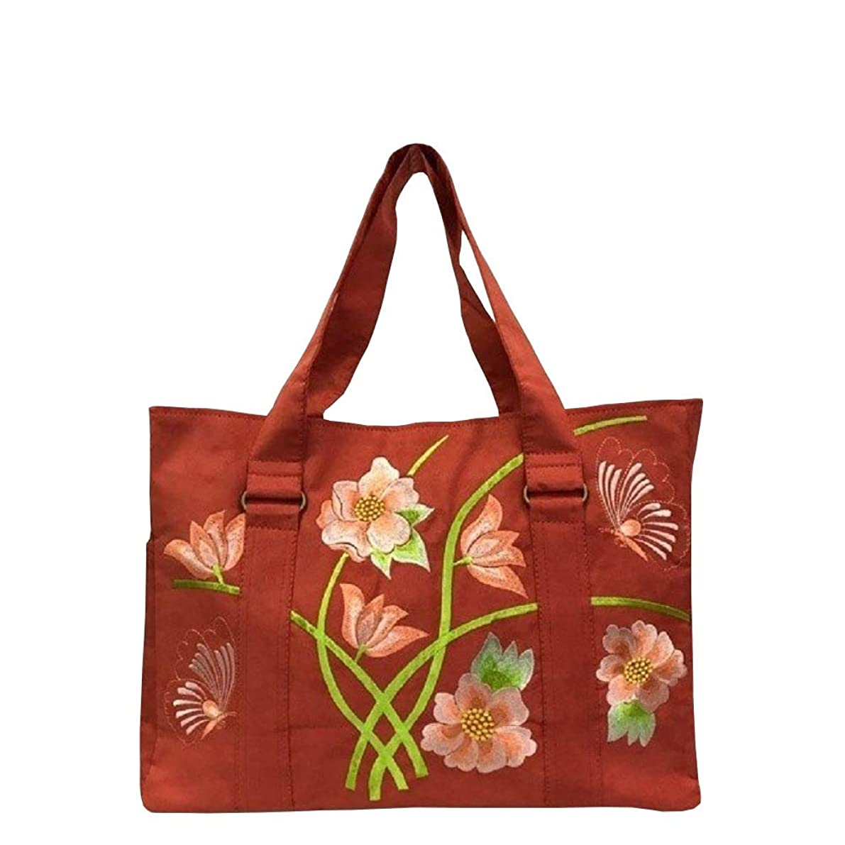 泥棒アセンブリテクトニックベトナムバッグ 刺繍 トートバッグ 肩掛け 鞄 両面刺繍 ベトナム雑貨