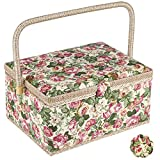 Large Sewing Basket with Accessories, Sewing Organizer Box for Sewing Supplies...