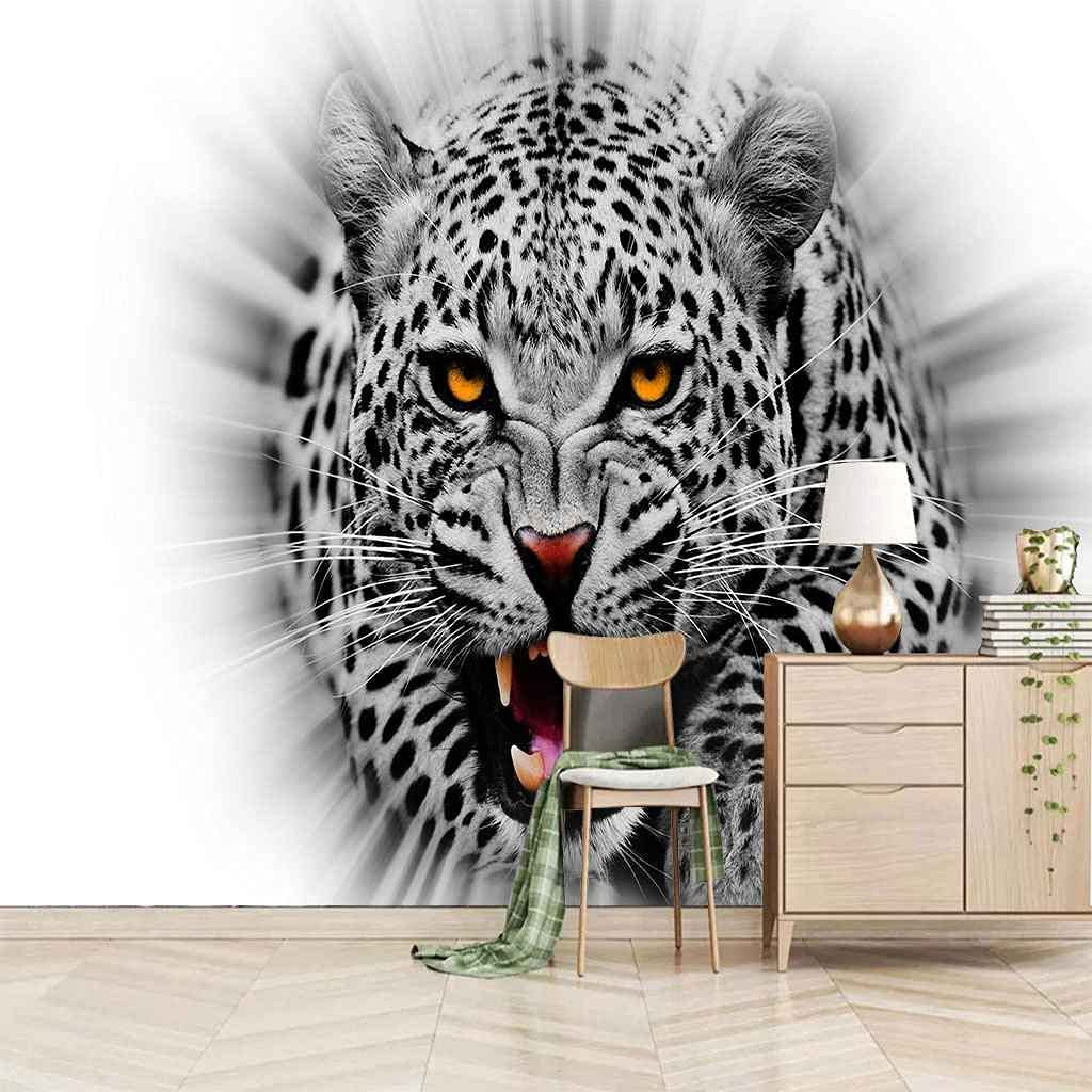 HWCUHL 3D Animal Tiger Creative Wall Sticke Self Canvas Adhesive New Selling life