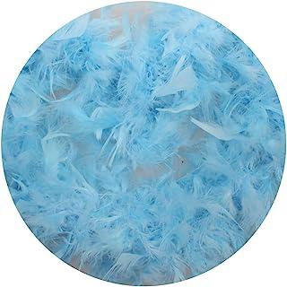 Bomcomi 2 Meter Feather Design Strip Dress Clothes Costume boa Costume Boa Decorations Wedding Party Decor Solid Color Light blue