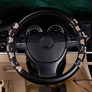 XiXiHao Cute Bears Steering Wheel Cover for Women (Brown)