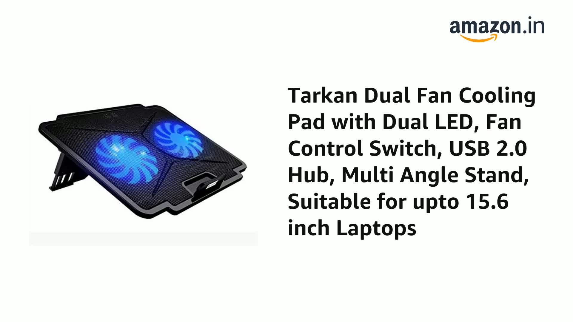 Black 13 and Smaller Notebooks Laptop Storite Notebook Cooling Pad Super Silent High Performance 1 x 140mm Fan Compatible with 14