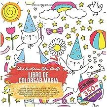 Libro de colorear magia. Libro de colorear Relax Doodle. Más de 350 temas de imágenes incluyen: Frutas, Gadgets, Jardín, Buenas noches, Espacio ... Cuidado de la salud y más (Spanish Edition)