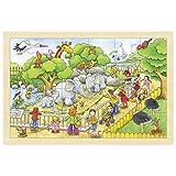 Goki- Puzzles De Madera Encaje Visita Al Zoo, Multicolor (57808)
