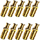 Wood Grip Brass Anchor for Pool Safety Cover - 10 Pack