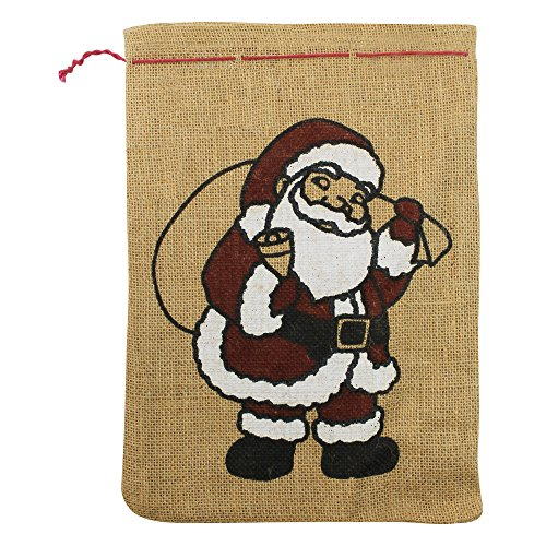 folia 3er Pack Weihnachtssäckchen leer zum Befüllen Jutesack Nikolaus Sack Weihnachten Nikolaussäckchen Nicolaussäckchen