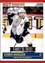 2010-11 Score Rookie & Traded #635 Chris Mueller RC NASHVILLE PREDATORS NHL Hockey Card
