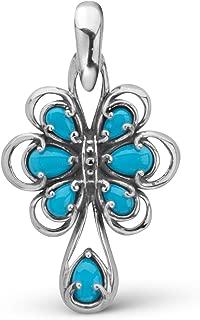 Carolyn Pollack Sleeping Beauty Turquoise Gemstone Pendant Enhancer