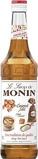 Monin Salted Caramel Syrup In Glass Bottle, 700 ml