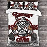 FDASLJ Cobra Command Gym GI Joe Storm Shadow 3 Pieces Bedding Set Duvet Cover 86'' x70,Queen Decorative 3 Piece Bedding Set with 2 Pillow Shams