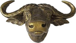 WJH Vaca Animal Salvaje de simulación 3D Animal Retro Pared de la Resina Colgantes Sala Ilustraciones decoración de la Pared Apoyos de la Pared Fuera de la Florida