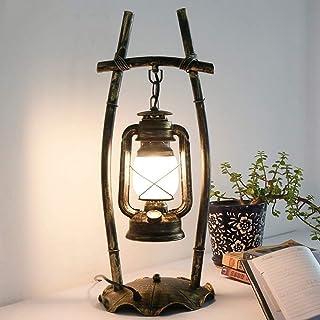 Kotee Retro järnläslampa Kerosenbord Ljus skrivbordslampa Vintage Lantern Desktop Ljus gammaldags bordslampa Amerikanska l...