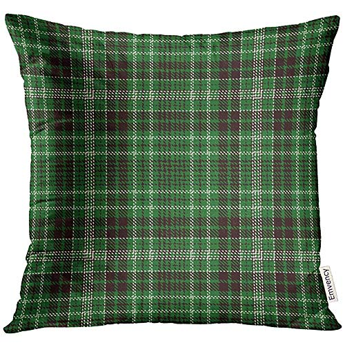 QDAS kussensloop abstract tartan groen plaid flanel patroon trendy tiles for Ancient Pillow Case Home Decor Pillowcase