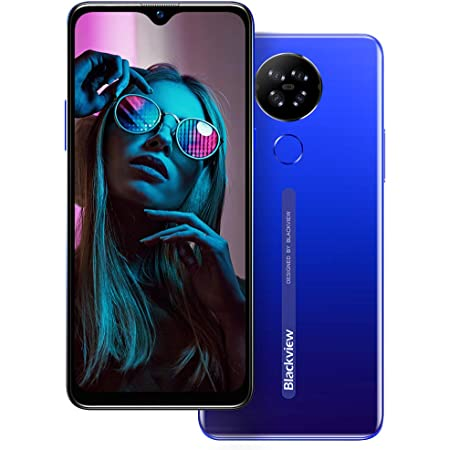 Mobile Phone,Blackview A80 4G Smartphone SIM Free Phones Unlocked,Android 10 Phone with 6.217 inches Waterdrop Screen,13MP Quad Camera,4200mAh,2GB+16GB/128GB Extension,Face/Fingerprint Unlock-Blue