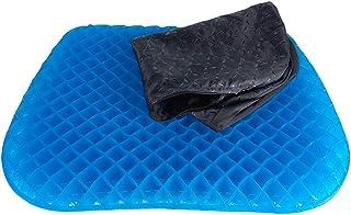 Happy Globe - Cojín ortopédico de gel con funda antideslizante, postura recta y alivio del coxis, ideal para coche, oficina y silla de ruedas