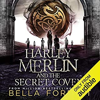 Harley Merlin and the Secret Coven audiobook cover art