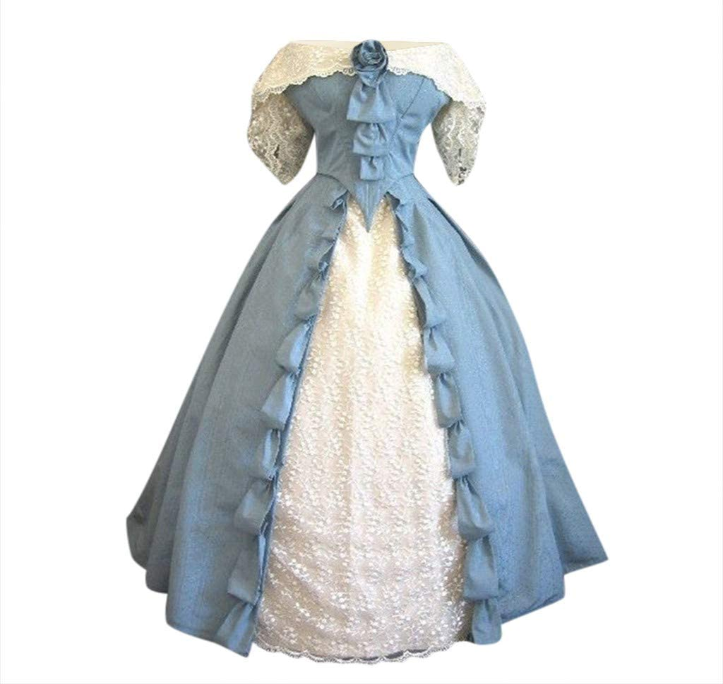 Oksea Damen Gothic Lolita Kleid Schulterfrei Damen Bandeau Stern Muster Kleid Gothic Kleid Damen Street Gothic Style Punk Schwarz Retro Kleid Moon Print /Ärmelloses Kleid