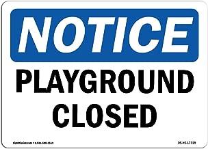 playground closed sign