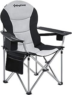KingCamp アウトドアチェア 折りたたみ キャンプ椅子 収束型 イス 耐荷重160kg アームチェア 收纳袋付 釣り ガーデン チェア