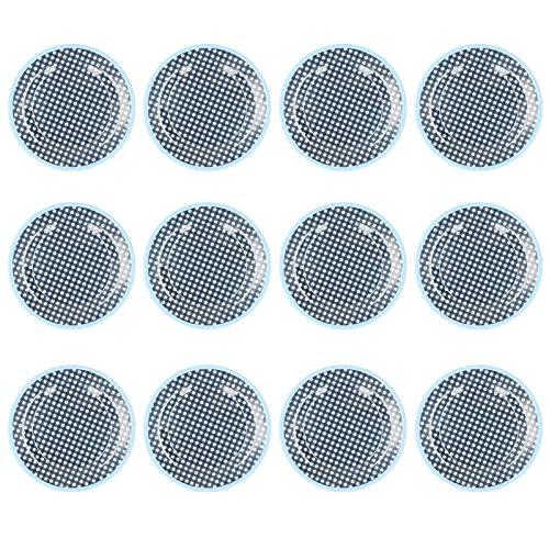 Annjom Plato de Comida, Plato de Ensalada de vajilla para Descanso para Dormitorio para salón para Cocina(Dark Blue Grid)