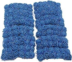 FSYX Artificial flower 12/36/72 / 144pc 2cm Artificial Flower Foam Rose Fake Flower Family Wedding Party Decoration Rose Flower Foam Flower 36PC Light blue