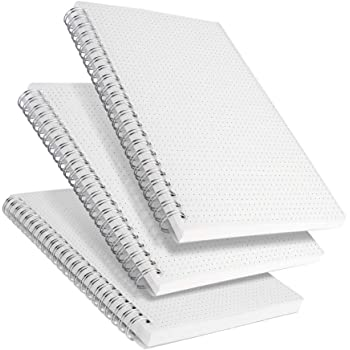 """RETTACY Dot Grid Notebook Spiral - 3 Pack Dotted Bullet Grid Journal with 480 Pages,100gsm Thick Dotted Paper,5.7""""x 8.3"""""""