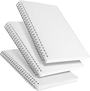 "RETTACY Dot Grid Notebook Spiral - 3 Pack Dotted Bullet Grid Journal with 480 Pages,100gsm Thick Dotted Paper,5.7""x 8.3"""