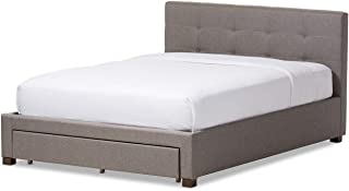 A to Z Furniture - Contemporary Fabric Storage Platform Bed Super King in Grey Color Without Mattress