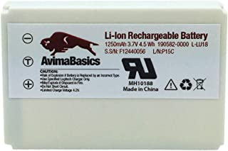 1250mAh 3.7V Li-Ion Battery by AvimaBasics   Replacement Rechargeable Compatible with Logitech Harmony 915 1000 1100 1100i L-LU18 LU18 C-LR65 Squeezebox Duet Controller - Logitech Parts: 190582-0000