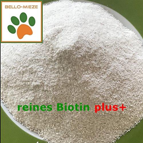 1x 400g puro Biotina Plus + | Alimentos Complemento–Los Alimentos Para Perros Con aburrido MCG Biotina, también para barfen