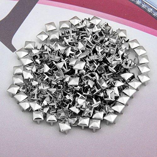 200 Kupfer 6mm Silber Pyramidennieten Pyramiden Nieten Ziernieten Deko.