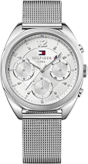 Tommy Hilfiger Women's Silver Dial Stainless Steel Band Watch - 1781628, Analog Display