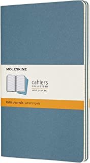 モレスキン ノート カイエ ジャーナル3冊セット 横罫 ラージサイズ ブリスクブルー CH016B44